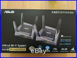 ASUS RT-AX92U AX6100 Tri-Band Whole Home Mesh Wi-Fi System Pack of 2 WiFi 6