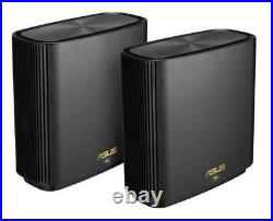 Asus ZenWiFi AX (XT8) AX6600 Whole Home Mesh WiFi 6 System Black (2-Pack)