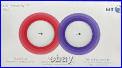 BT Whole Home Wi-Fi, Pack of 2 Discs, Mesh Wi-Fi for seamless, speedy AC2600