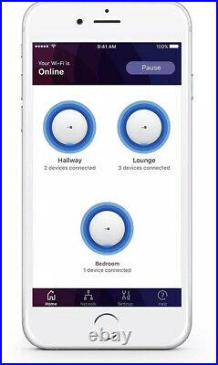 BT Whole Home Wi-Fi, Pack of 3 Discs, Mesh Wi-Fi for seamless, speedy AC2600 in