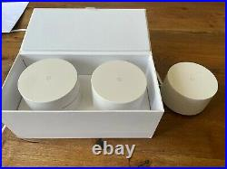 Google Mesh Wi-Fi Whole Home System Network Router 3-pack Free GB P&P