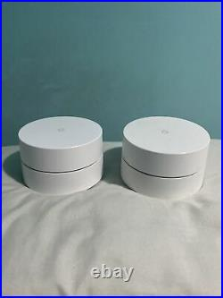 Google Mesh Wi-Fi Whole Home System Network Router White 2 pack