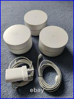 Google Mesh WiFi Home Router, set of 3 with cables. Model NLS 1304-25