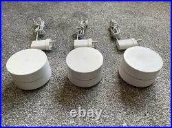 Google Wi-Fi Whole Home System White 3 PACK Mesh UK Spec Used No Box