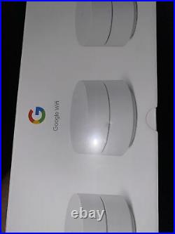 Google Wifi Mesh Network System Router AC1200 Point 3-pack (GA02434-US) NEW Seal