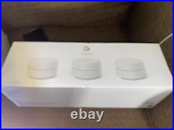 Google Wifi Whole Home Mesh Wi-Fi System AC1200 3-Pack White GA02434-US New