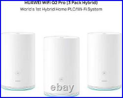 Huawei Q2 Pro Mesh Wi-fi (3 Pack Hybrid). 1gbps Internet Home Office Satellites