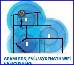 LINKSYS Velop Whole Home WiFi Mesh System Triple Pack Dual-band 1300Mbps