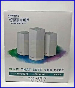 Linksys Velop AC4600 Tri-Band Whole Home Intelligent Mesh WiFi System Brand New