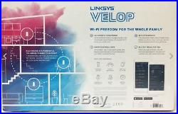 Linksys Velop Tri-Band Whole Home Mesh Wi-Fi Router 2 Pack AC4400 Bristol