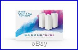 Linksys Velop Tri-Band Whole Home Wifi Mesh System, 3-Pack Coverage Up To 6000