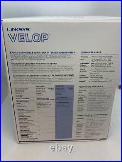 Linksys Velop WHW0302 Tri-Band Mesh Whole Home Wi-Fi AC4400 Extender (2 Pack)