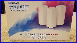 Linksys Velop Whole Home Mesh Tri-Band WiFi AC6600 System 3 Pack WHW0303