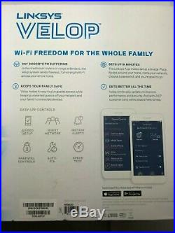 Linksys Velop Wireless AC-6600 Tri-band Whole Home Mesh WI-FI System, 3-Pack