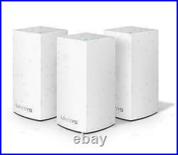Linksys WHW0103 Velop Whole Home Mesh Wi-Fi System AC3900 White