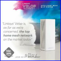 Linksys WHW0303-UK Velop Tri-Band AC6600 Intelligent Whole Home Mesh WiFi System