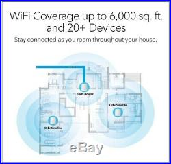 NETGEAR Orbi Tri-band Whole Home Mesh Wi-Fi System with 2.2Gbps Speed (RBK23)