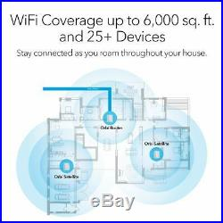 NETGEAR Orbi Ultimate Whole Home Mesh Wi-Fi System Router + 2 Satellite Extender