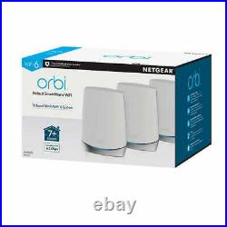 NETGEAR Orbi Whole Home Mesh WiFi 6 System with Advanced Cyber Security 3 pack NEW