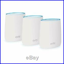 NETGEAR Orbi Whole Home Mesh WiFi System WiFi router and 2 satellite extenders
