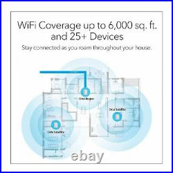 NETGEAR Orbi Whole Home Mesh WiFi System with Advanced Cyber Threat Protection