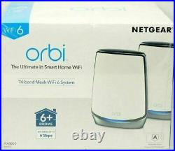 NETGEAR Orbi Whole Home Tri-band Mesh WiFi 6 System RBK852 Router