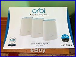 NETGEAR RBK53 Orbi Whole Home Mesh Wi-Fi System (Router and Satellite), Tri-Band