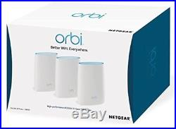 NETGEAR RBK53 Orbi Whole Home Mesh Wi-Fi System (up to 6000 sq ft coverage), Tri