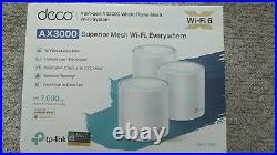 NEW 3 Pack TP-Link Deco X60 WiFi 6 AX3000 Whole Home Mesh Wi-Fi System