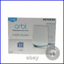 NEW NETGEAR Orbi Whole Home Tri Band Mesh Wi-Fi 6 System Up to 5000 sq ft