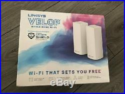 NEW SEALED Linksys Velop AC4400 Tri-Band Whole Home Wi-Fi Mesh 2 Pack
