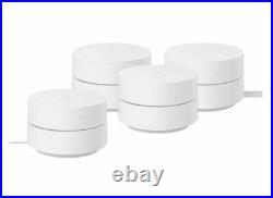 Nest WiFi Router Google AC1200 Home Mesh System 4-Pack Dual Band GGL-WIFI4PK-CA