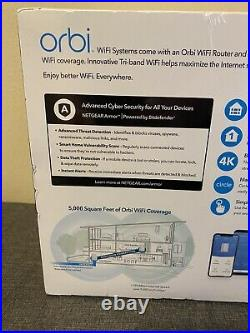 Netgear Orbi AC3000 TriBand Whole Home Mesh WiFi Router System RBK50-100NAS
