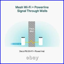 TP-LINK Deco P9 Whole Home Powerline Mesh Wi-Fi System Up To 6000 Sq ft coverage