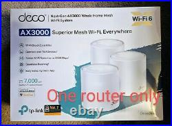 TP-LINK Deco X60 AX3000 Whole Home Mesh Wi-Fi 6- 1 Pack (Not 3pack) (Unused)