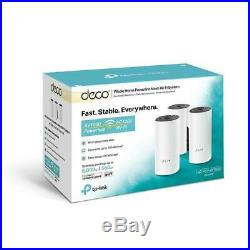 TP-Link Deco P9 AC1200 + AV1000 Whole Home Powerline Mesh Wi-Fi System (3-Pack)