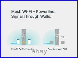 TP-Link Deco P9 Whole Home Powerline Mesh Wi-FI System AC1200 + AC1000 White