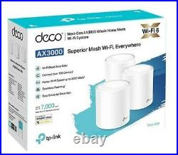TP-Link Deco X60 (3-pack) AX3000 WPA3 2.4G 5G Whole Home Mesh WiFi Router White